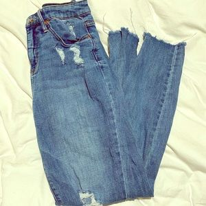 Wild Fable High Rise Distressed Jeans